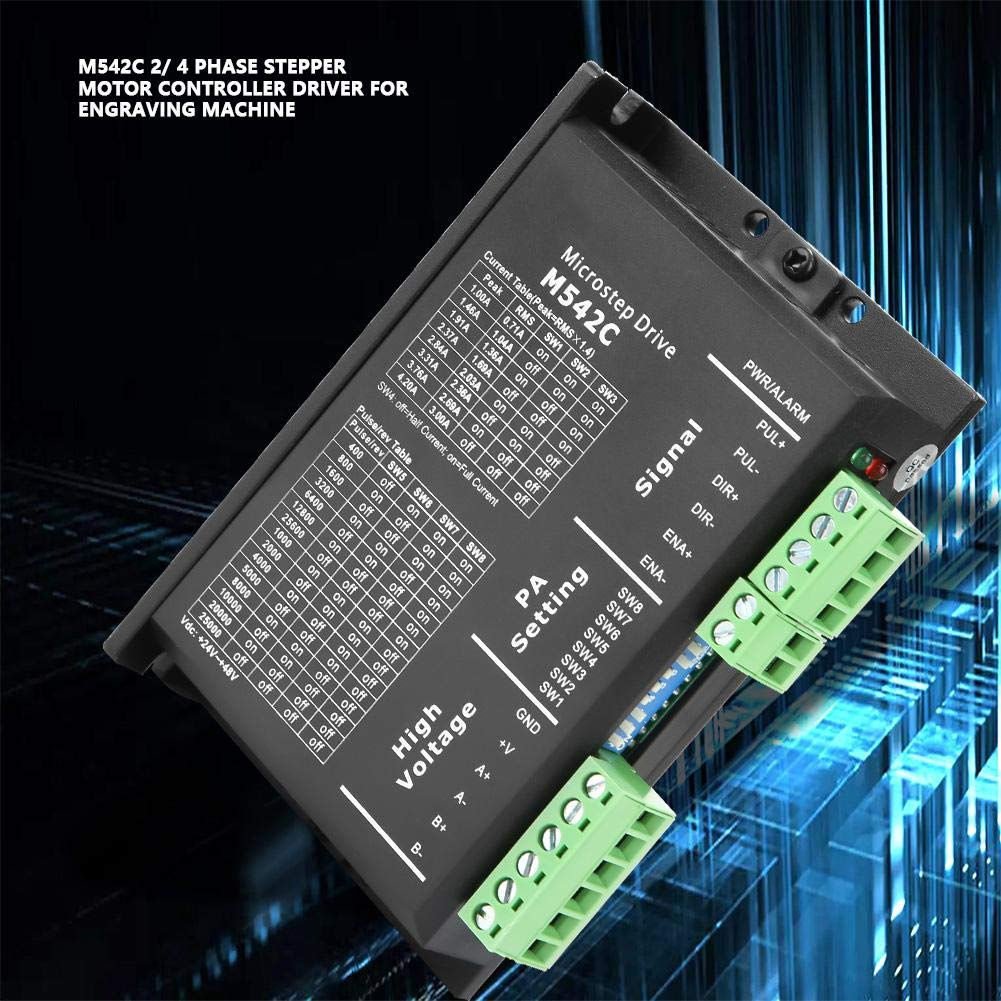 Phase and 4 DC50V M542C 2//4 Phase Stepping Motor Driver Motor Controller for Driving 2 Stepper Motor Driver Phase Stepper Motor