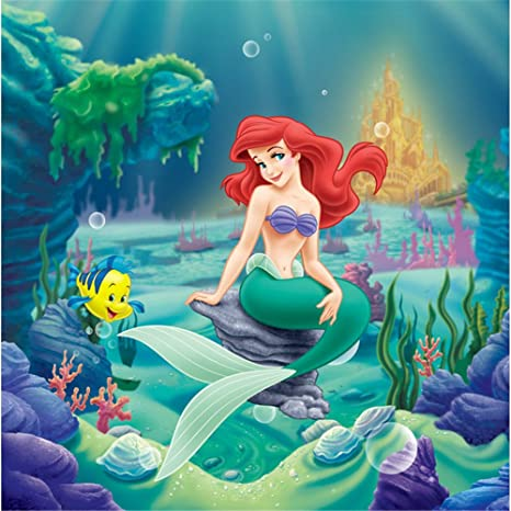 VV 7x5ft Under The Sea Background Backdrops Little Mermaid Photography Backdrop Ocean Kids Birthday Party Photo