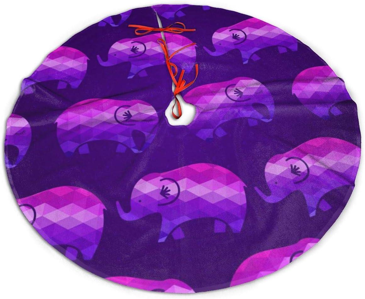 Amazon GUIYTQ5R Purple Elephants Christmas Tree Skirt