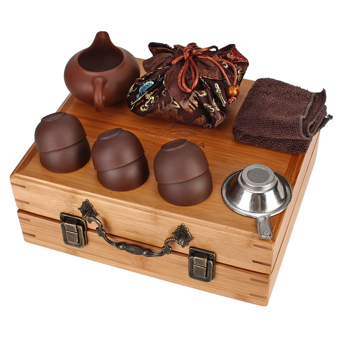 Home tea(TM) Chinese zisha Kungfu Tea set portable outdoor travel tea set by Home tea (Image #3)