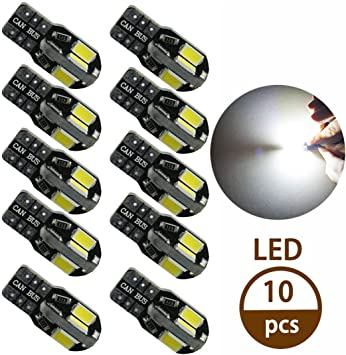 10X Car LED Light 12V Interior W5W 168 194 LED Bulbs T10 3014 24SMD Silica Light