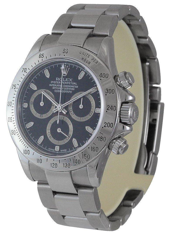 Rolex Daytona Cosmograph Stainless Steel with Blac 116520 - Reloj: Amazon.es: Relojes