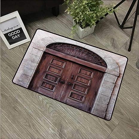 Anzhutwelve Rustic,Door Mats Arched Wooden Venetian Door With Eastern Royal  Ottoman Elements European Culture