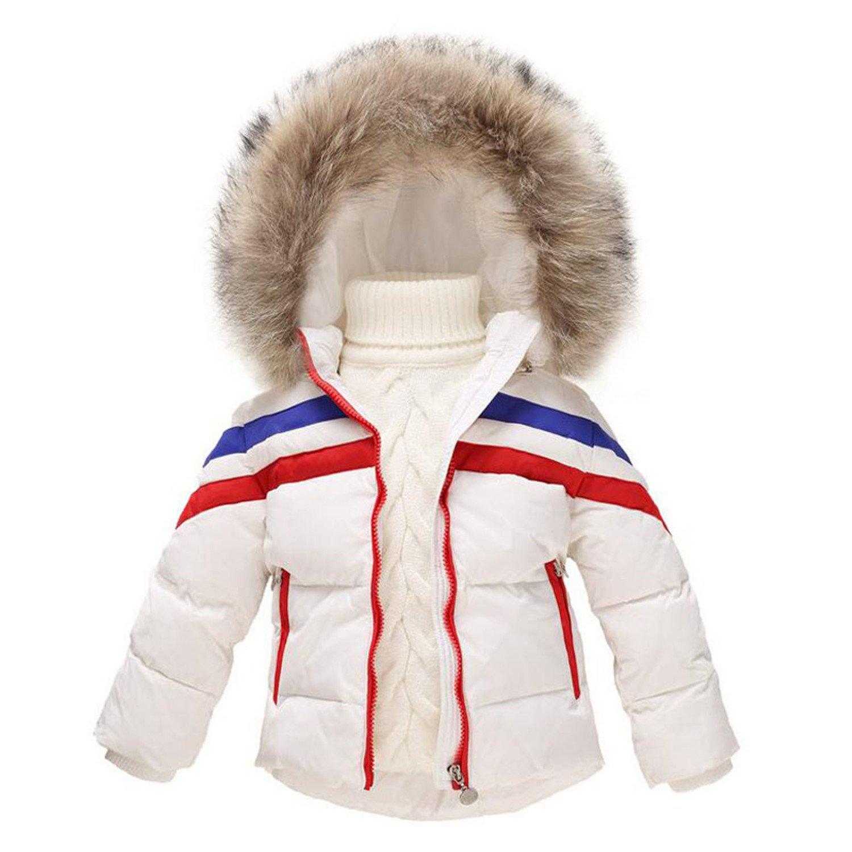 f21b3b2eb415 Amazon.com  Baqijian Girls Parka Winter Coat Fur Baby Hooded Coat ...