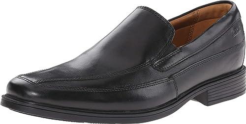 clarks black shoes mens