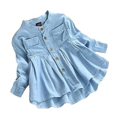fe1ca9502387 Amazon.com  Wesracia Toddler Kid Baby Girls Clothing Denim Ruched ...