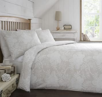 Appletree® Cream Beige Duvet Cover Reversible Easy Care Quilt Set ... : beige quilt cover - Adamdwight.com