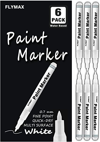 8 x White Paint Marker Oil Based Opaque Pen Steel Metal Wood Glass Plastic Tyre