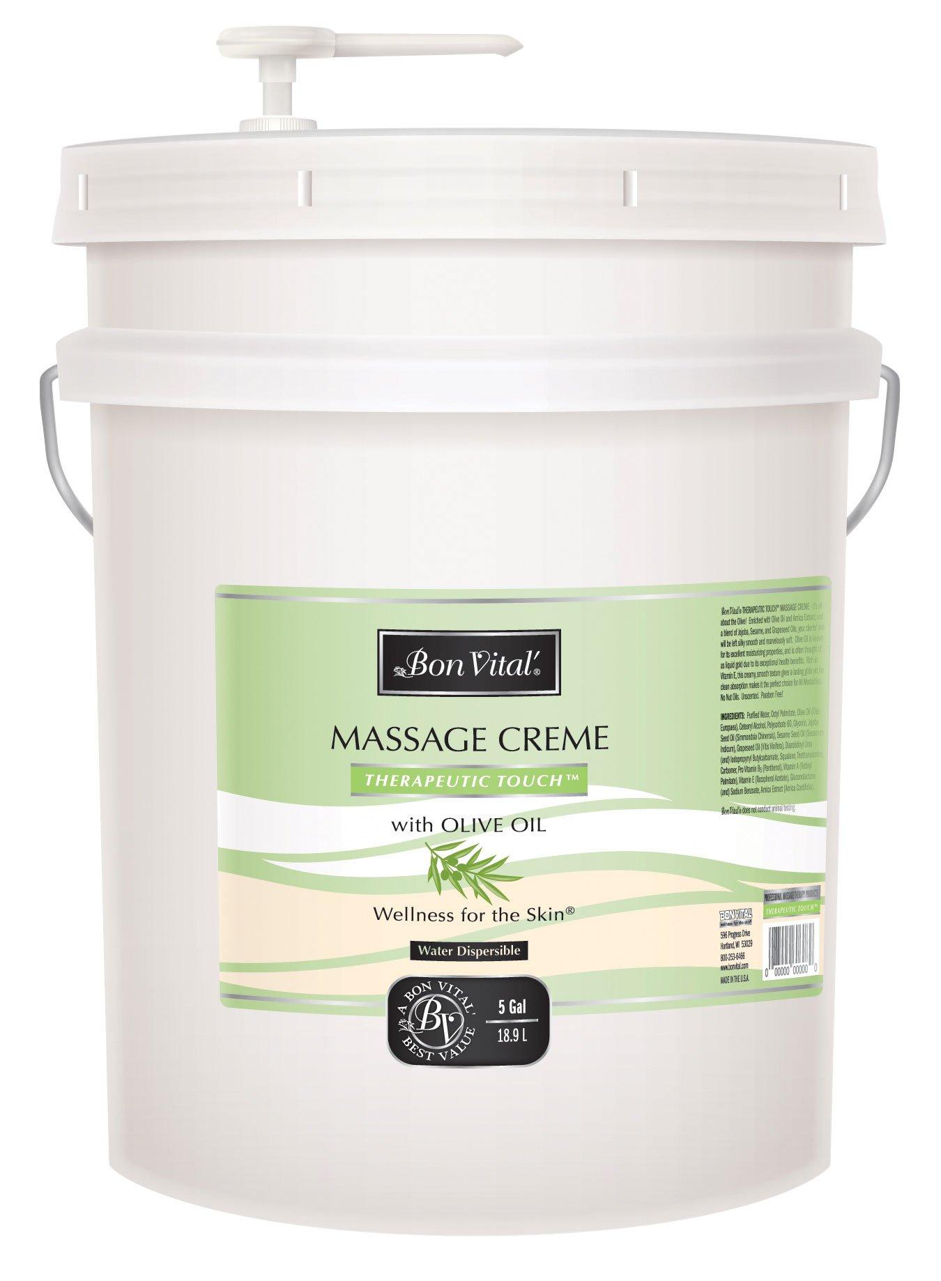 Bon Vital Therapeutic Touch Massage Creme, 5 Gallon Pail
