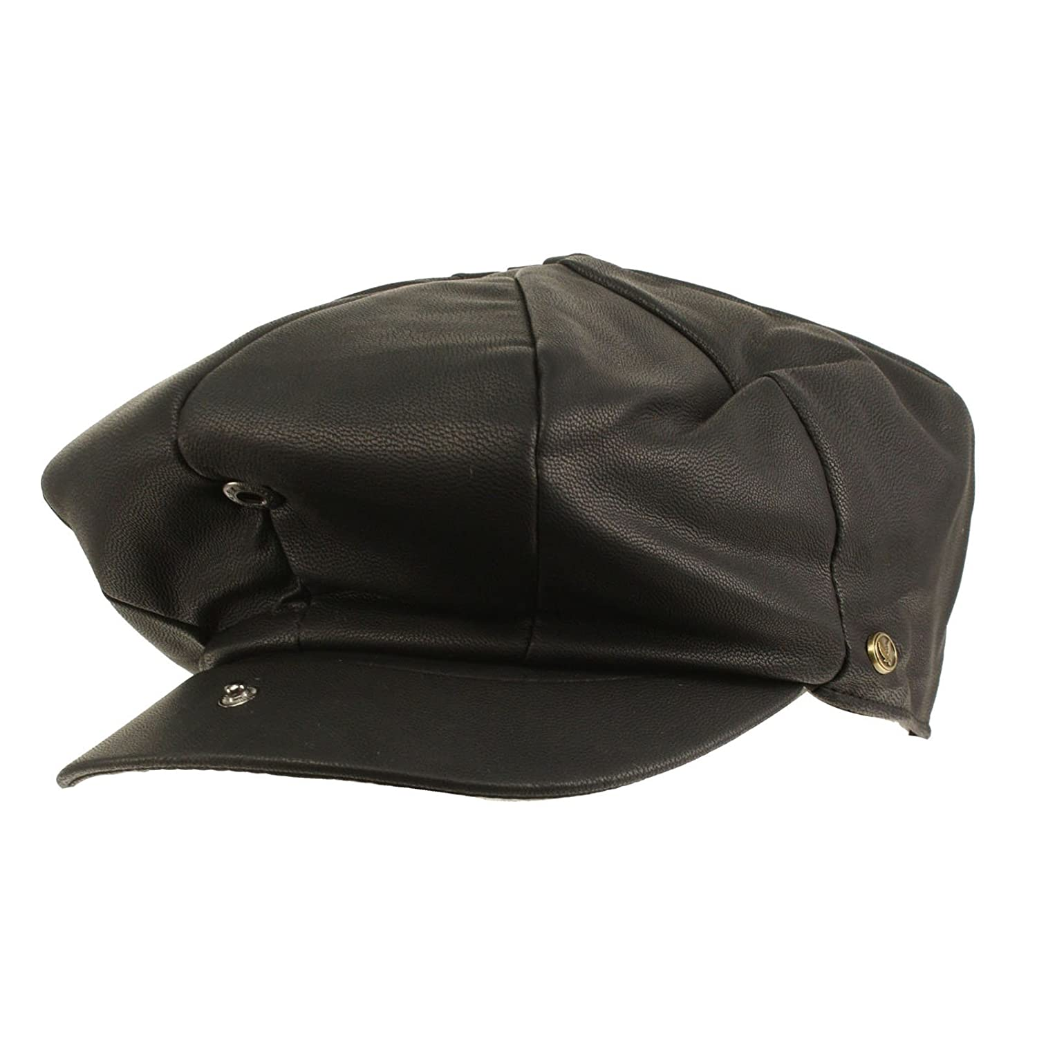 SK Hat shop Men s Oversized Faux Leather Classic newsboy Cabbie Gatsby Cap  Hat Black at Amazon Men s Clothing store  f48c10fa525