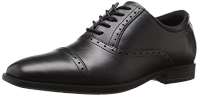 ECCO Men's Edinburgh Cap Toe Oxford, Black, 42 EU/8-8.5 M