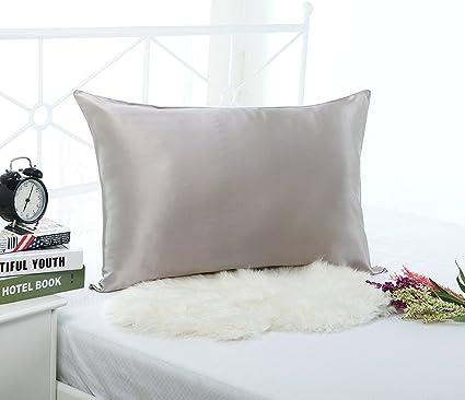 19mm 100% Premium Luxury Pure Mulberry Silk Pillowcase with Cotton Underside