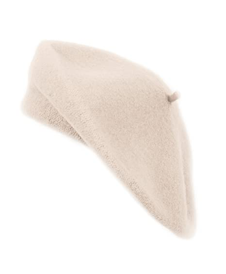 669bc65236214 Amazon.com  boxed-gifts Solid Color French Wool Beret (Beige)  Clothing