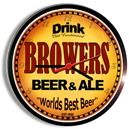 amazon com browers beer and ale cerveza wall clock home kitchen
