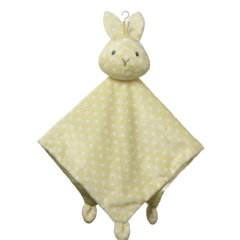 "Baby GUND Roly Polys Bunny Lovey Blanket Stuffed Animal Plush Toy, Yellow, 14"""