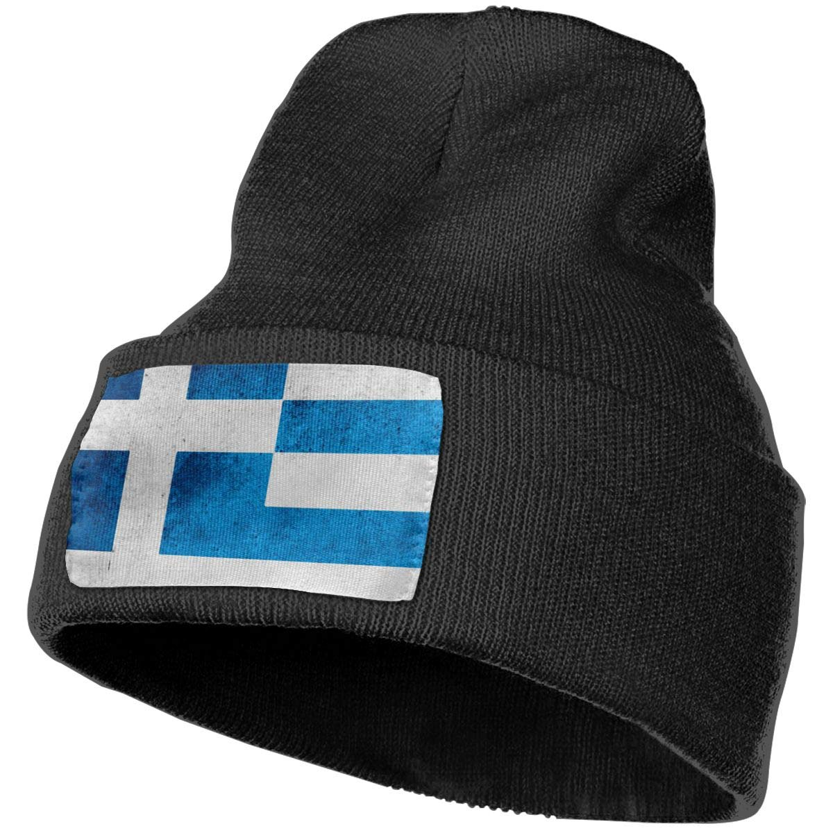 Ruin Greek Flag Fashion Knitting Hat for Men Women 100/% Acrylic Acid Mas Beanie Hat