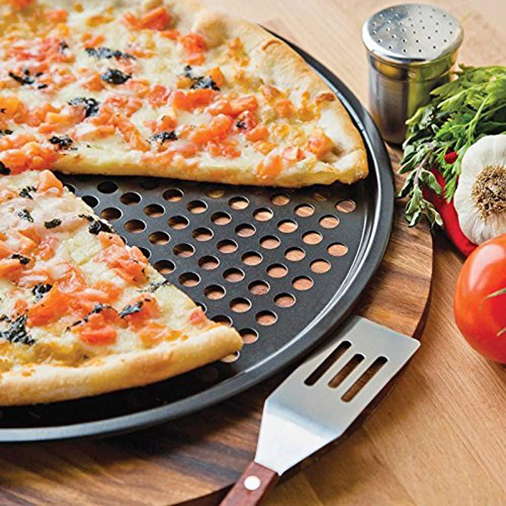 Pizza Pan Non-Stick 11-Inch Reusable Pizza Tray Pie Pans Crisper