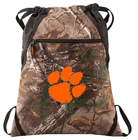 f8e94f08e7 Image Unavailable. Image not available for. Color  Broad Bay Clemson  University Cinch Pack Realtree Camo Clemson Tigers Backpack