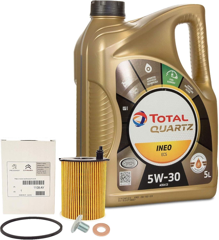 Total Quartz Ineo Ecs 5 W30 Original Oil Of Peugeot Citroen Brand Engines 1109 Ay Auto