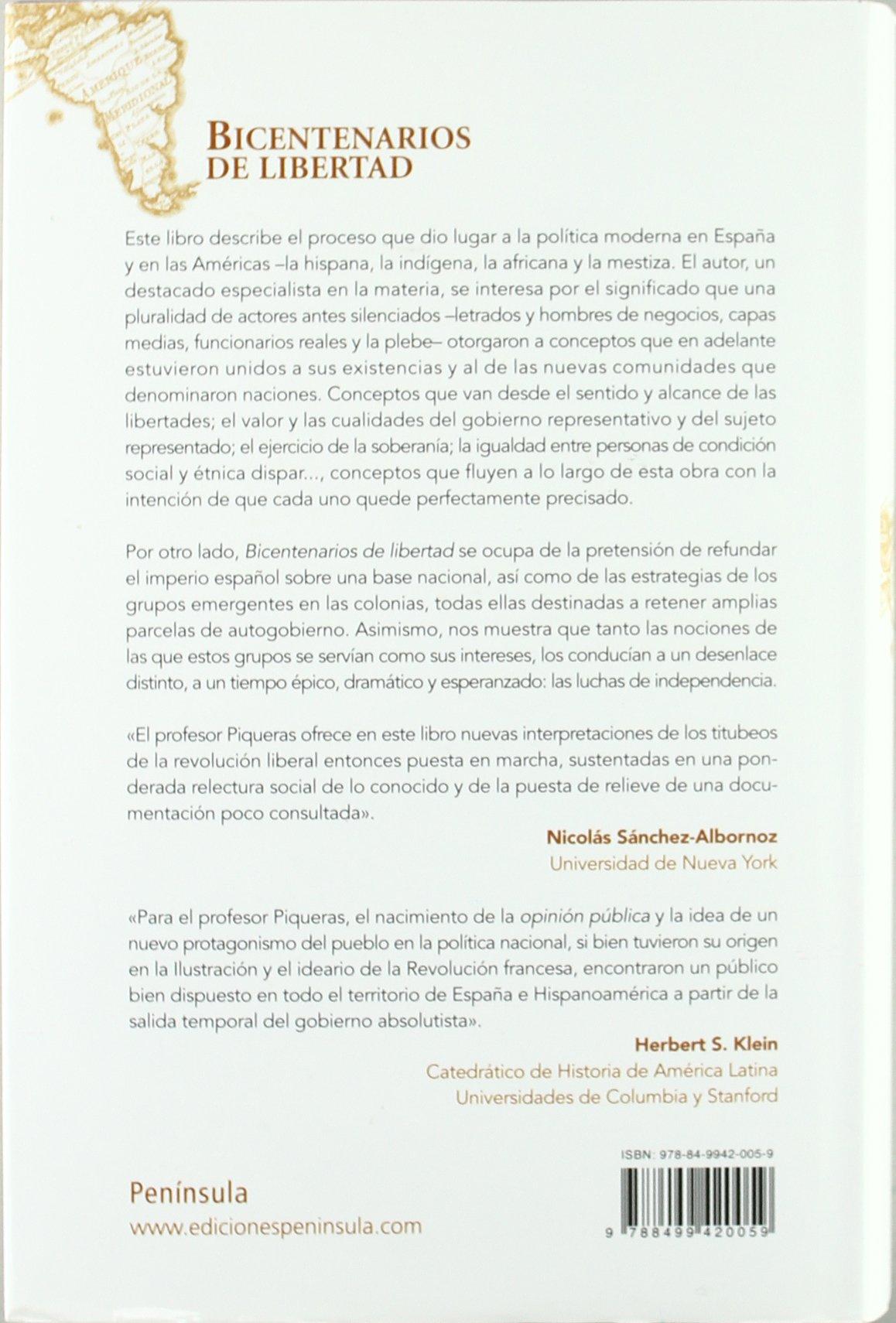 Bicentenarios de Libertad: Jose Antonio Piqueras Arenas: 9788499420059: Amazon.com: Books