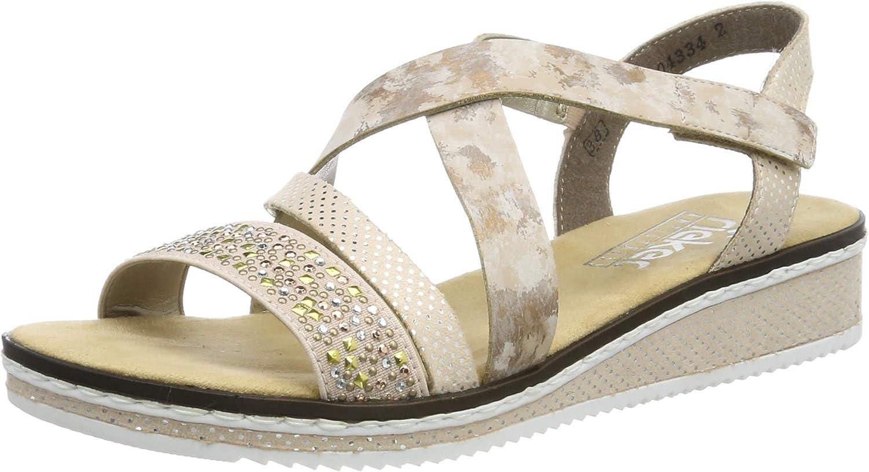 Rieker Damen V3663 32 Geschlossene Sandalen