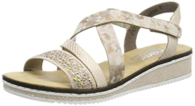 Temperament Schuhe heiß-verkauf freiheit Qualität und Quantität zugesichert Rieker Women's V3663-32 Closed Toe Sandals: Amazon.co.uk ...