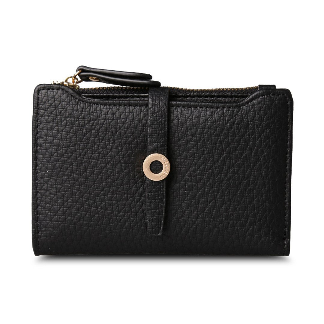 Amazon.com: Leather Short Women Wallet Change Clasp Purse Money Coin Card Holders Wallets Carteras: Clothing