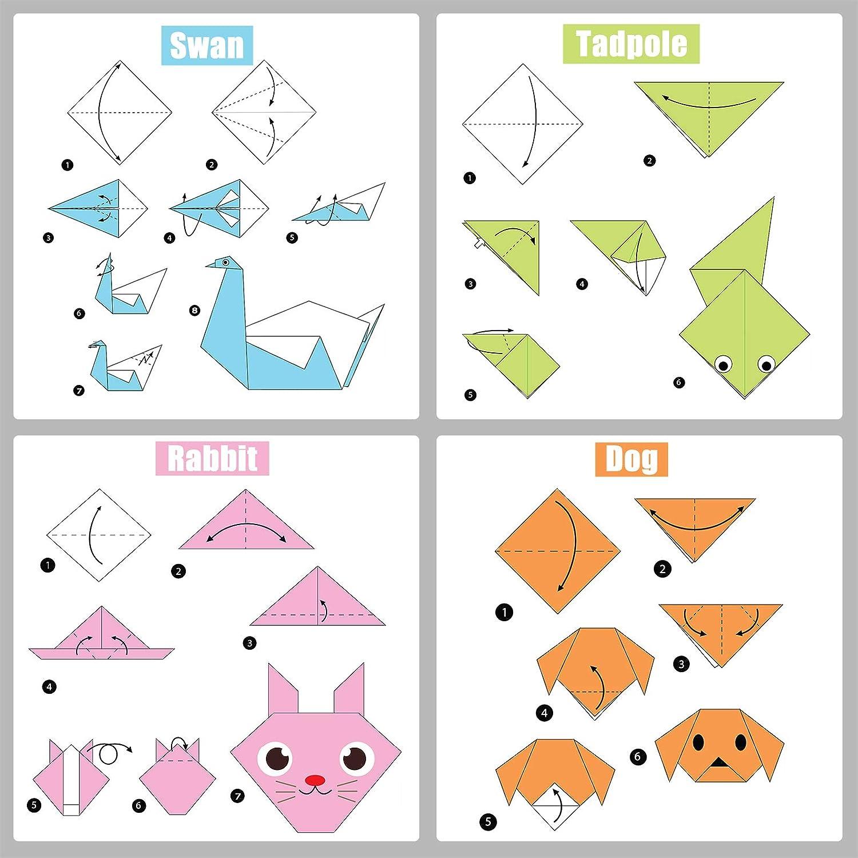 20 Colori Assortiti Hanyoushng Carta per Origami Fogli Quadrati di Carta per Origami per Bambini e Fai da Te. Carta per Decorazioni Artigianali 15 x 15 cm 100 Fogli