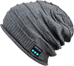 Upgraded Wireless Bluetooth Beanie Hat with Headphones V5.0, Unique Christmas Tech Gifts for Teen Boys/Girls/Boyfriend/Him/Husband/Men/Dad/Women/Stocking Stuffers/Built-in HD Stereo Speakers & Mic