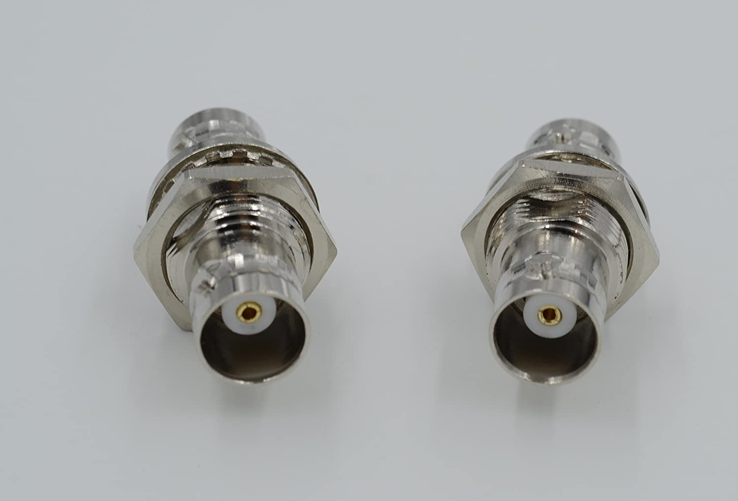 Not Alloy Pure Copper BNC Female Jack to BNC Female Jack with nut Bulkhead RF Coax Adapter Connector High Value 2pcs Ships from USA