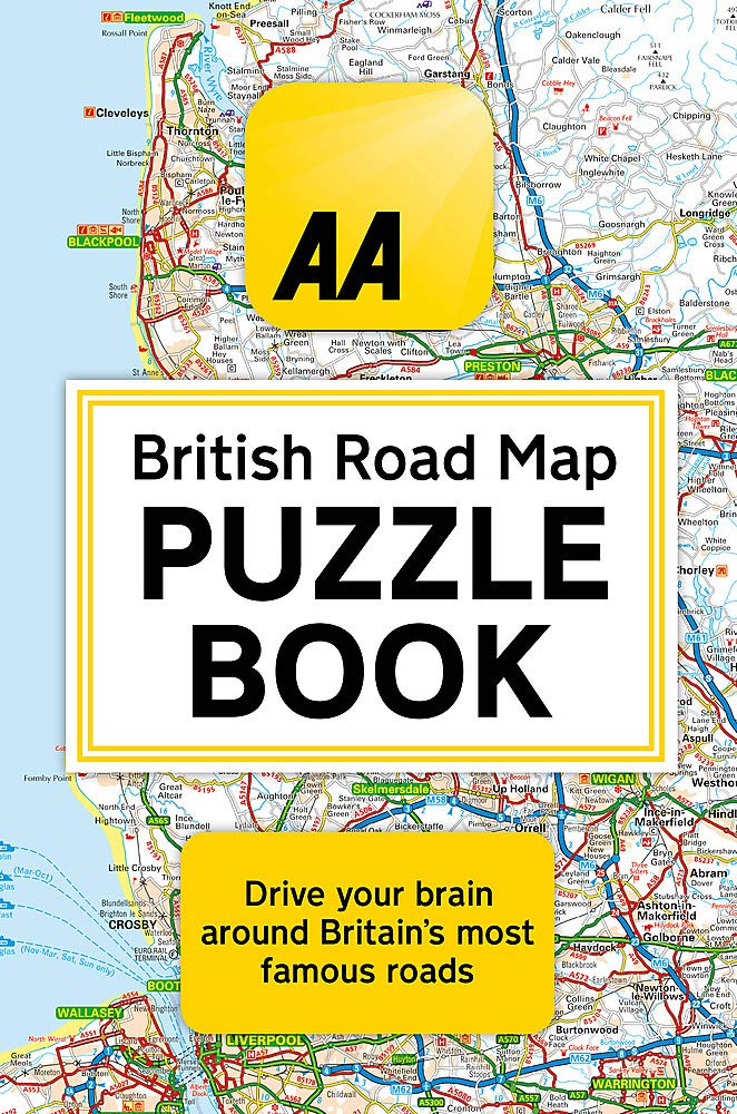 The AA British Road Map Puzzle Book  These Highly Addictive Brain Games Will Make You A Mapping Mastermind