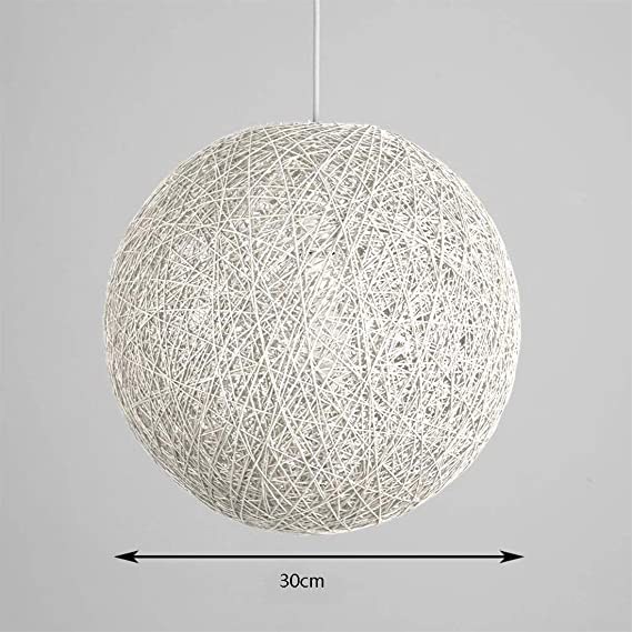 Amazon.com: ✨Modern Lattice Wicker Rattan Globe Ball Style ...