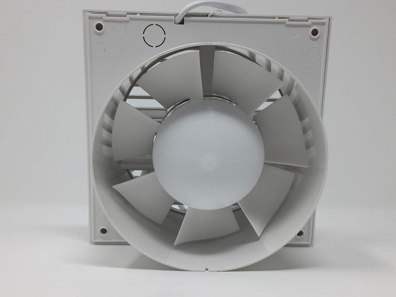 wei/ß WC K/üche /Ø 125mm Bad-L/üfter Ventilator Leise mit Timer