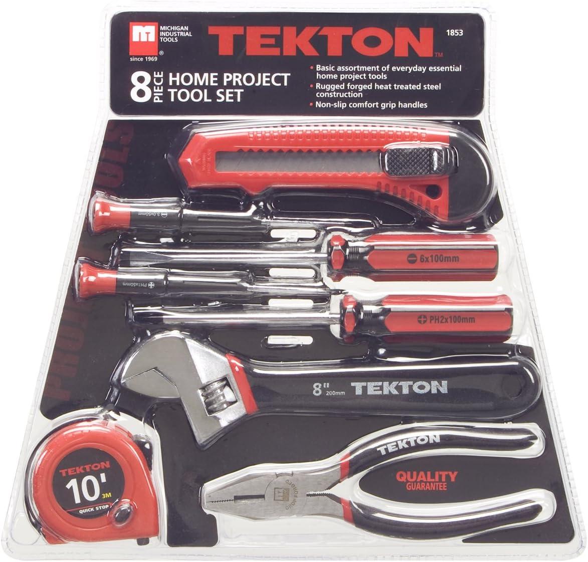3-Piece TEKTON 1832 Home Project Tool Set