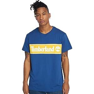 Timberland co SAmazon Men Shirts Ycc Logo T Blue ukClothing Nnmv80w