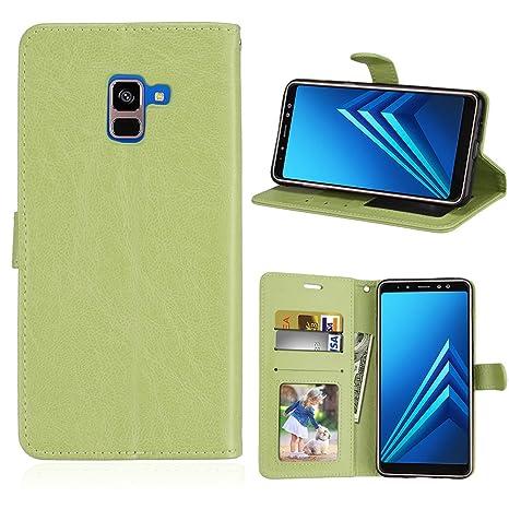 Funda Samsung Galaxy A8+ A8 Plus (2018) A730F Case,Bookstyle 3 Card Slot