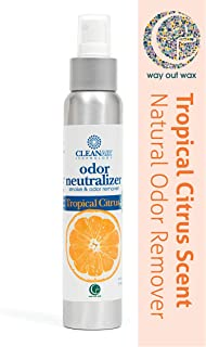 product image for Way Out Wax Odor Neutralizing Spray, Clean Air Tropical Citrus Scent Odor Remover (4 oz Spray Bottle); All-Natural Air Freshener and Deodorizer