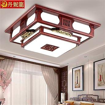 Larsure Estilo Vintage Modern Iluminación de techo Plafones del techo del salón luz luces led rectangulares