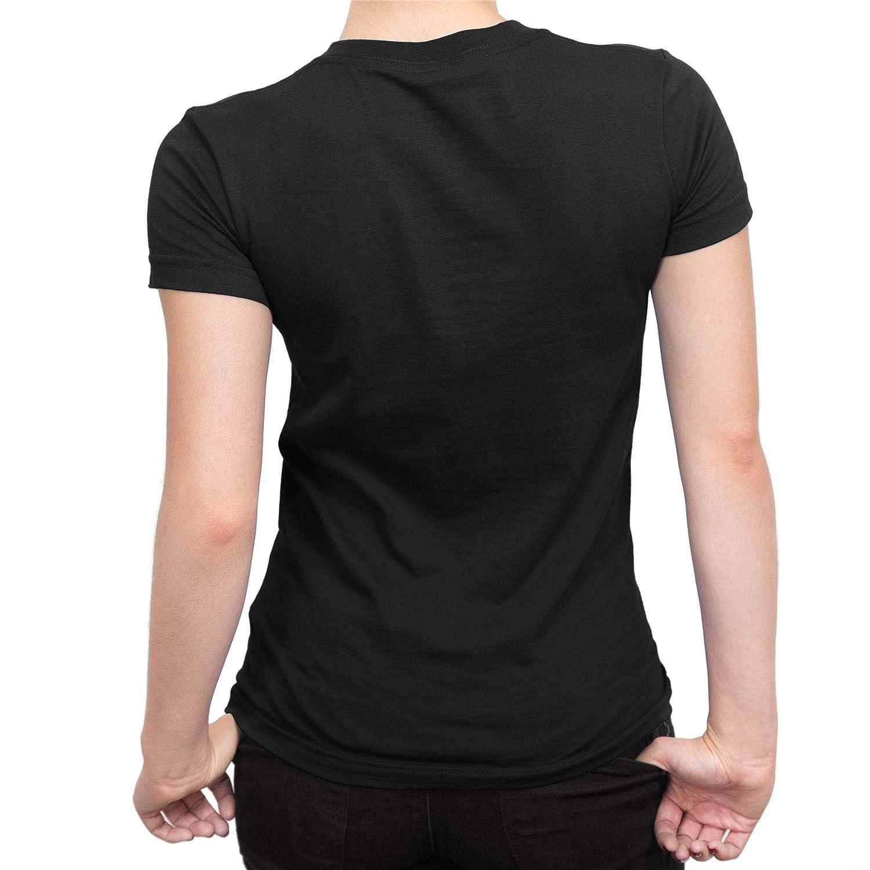 Captain Marvel Flying V Ladies Black T-Shirt