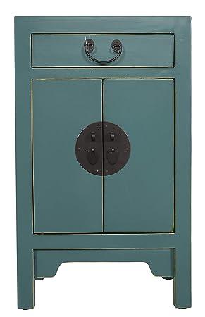 Fine Asianliving Table de Chevet Chinois Meubles Petite Table de Nuit Bleu  avec tiroir Oriental Asiatique 36027209fc97