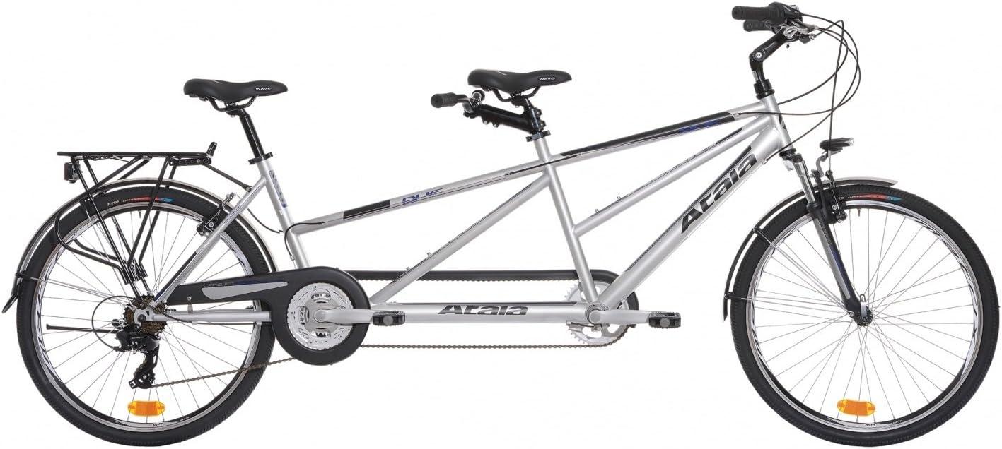 Atala - Bicicleta Tandem Atala Due gris / azul mate, 21 ...