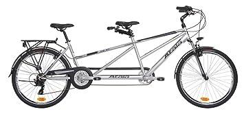 Atala - Bicicleta Tandem Atala Due gris / azul mate, 21 velocidades, 26 pulgadas