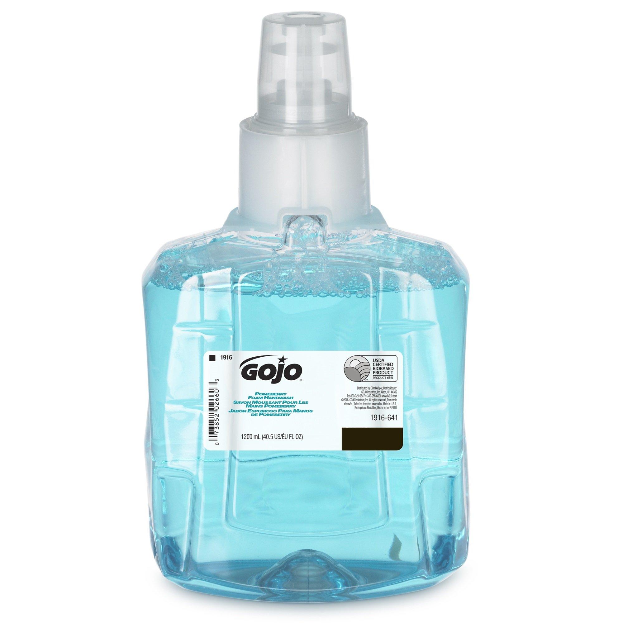 GOJO LTX-12 Pomeberry Foam Handwash, Pomeberry Fragrance, 1200 mL Handsoap Refill for GOJO LTX-12 Touch-Free Dispenser – 1916-06-EC