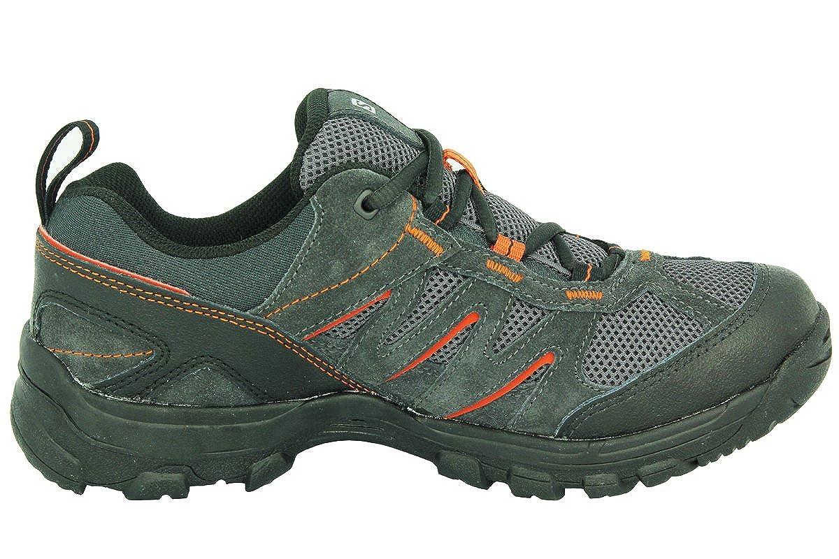 Salomon Karura Gris Suede Cuero Hombres Zapatos de Senderismo Contagrip, Color Negro, Talla 14 UK: Amazon.es: Zapatos y complementos