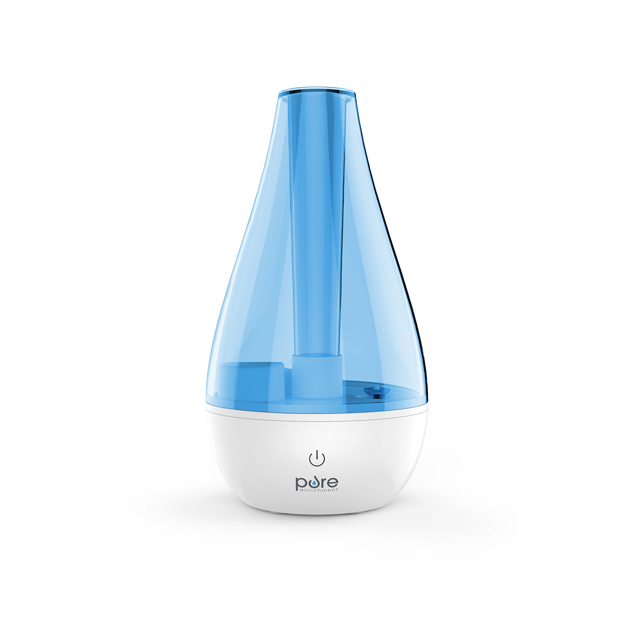MistAire Studio Ultrasonic Cool Mist Humidifier for Small Rooms – Portable Humidifying Unit Ideal for Travel with High & Low Mist Settings and Optional Night Light by Pure Enrichment (Image #1)
