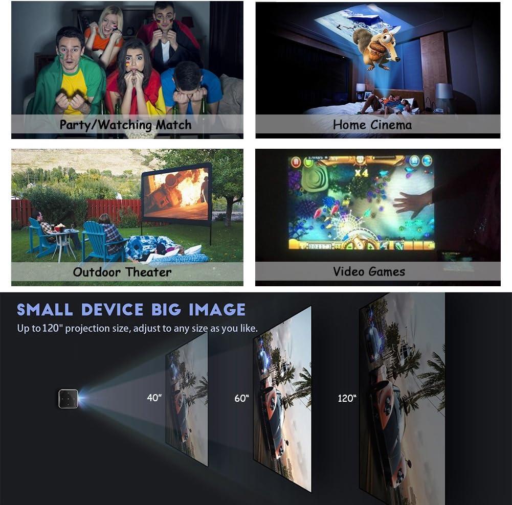 amazon com p6 mini video projector orimag dlp home theater projector 1080p portable wi fi smart pico projector max 120 screen ideal for ios android laptop ipad usb black electronics amazon com