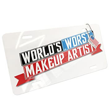 Amazon com: NEONBLOND Metal License Plate Funny Worlds Worst Makeup