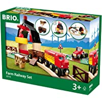 Brio Farm Railway Set Toy Train Set for Kids - Made with European Beech Wood