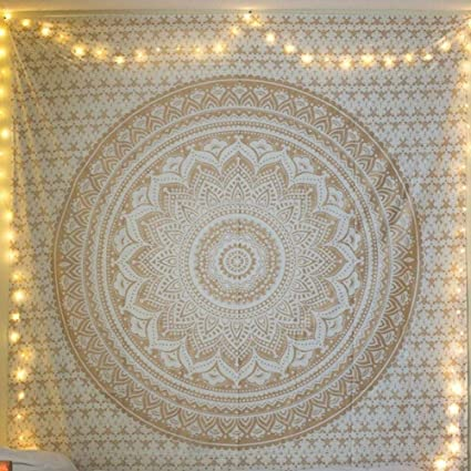 LiféUP Tapiz Multifuncional Cortina O Toalla De Sofá Forma De Flor De Mandala Para Dormitorio Hogar