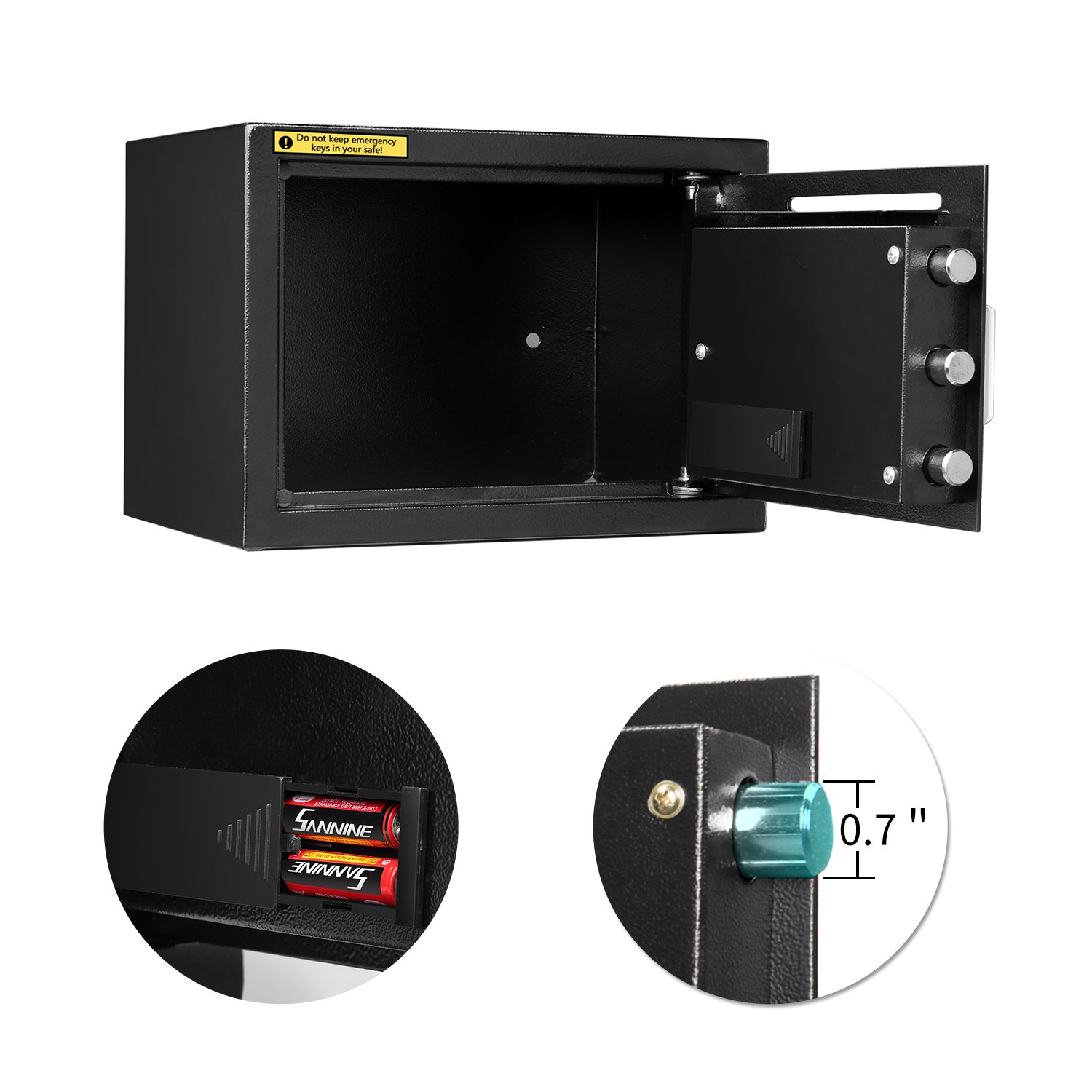 HYD-Parts Digital Security Safety Box,Money Gunsafe Cabinet Box for Home Office Hotel (25) by HYD-Parts (Image #2)